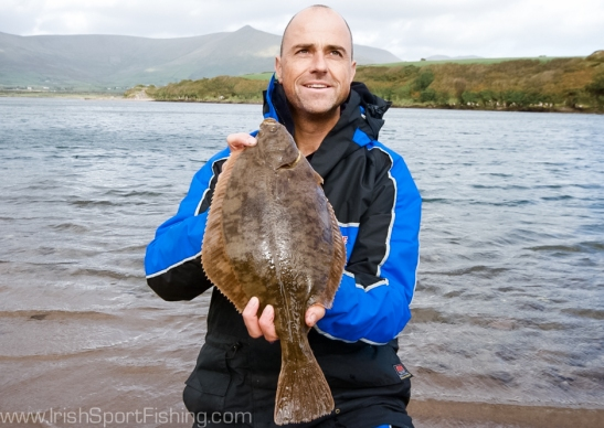 Paul Stevens with a specimen flounder