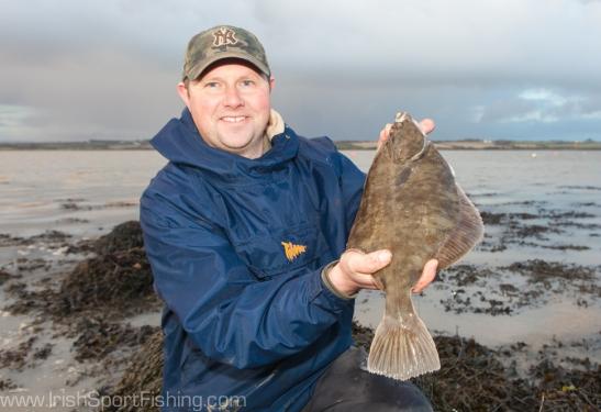 Martin Howlin with a fine flounder