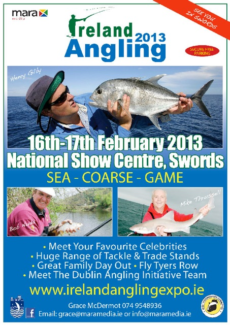 The 2013 Ireland Angling Expo is on in the National Show Centre in Swords this weekend. There promises to be something for everyone!