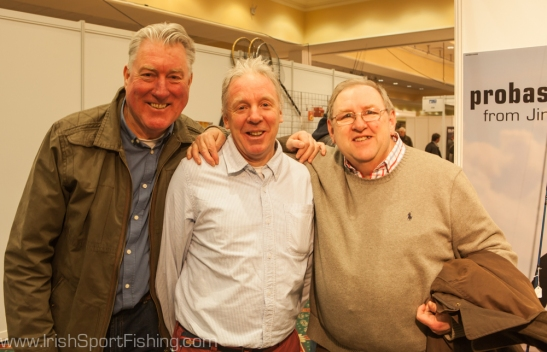 Jim Hendrick from Probassfisher (centre), with Dan Smith (left) and Ken Garry (right)