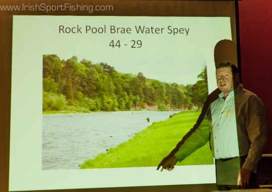 Ian Gordon gave a short talk on fishing some of Scotland finest rivers