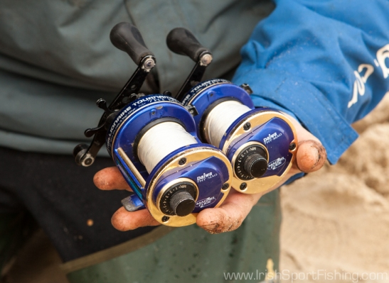 Daiwa 7HT Turbos are used with the Big Beaches when fishing for dogs, whiting etc.